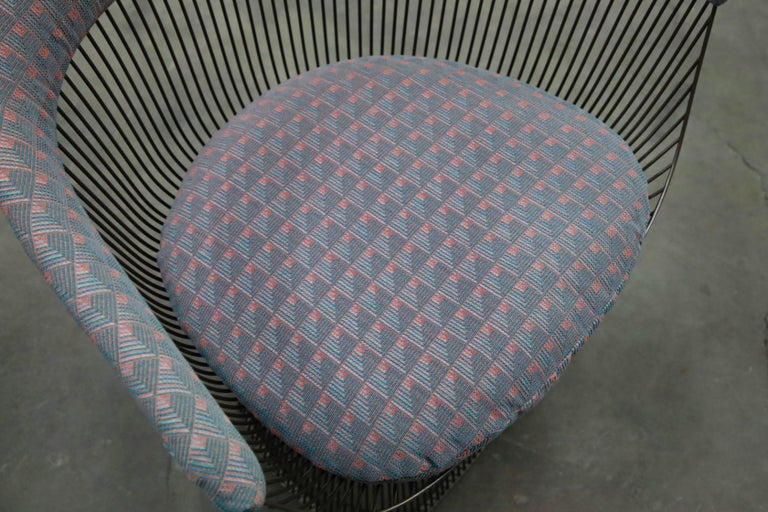 Bronze Early Production Warren Platner for Knoll International Armchairs, Signed For Sale 11