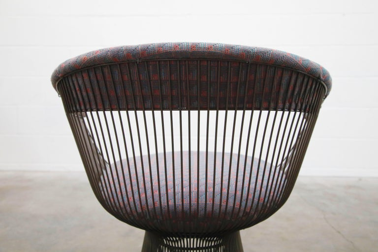 Bronze Early Production Warren Platner for Knoll International Armchairs, Signed For Sale 14