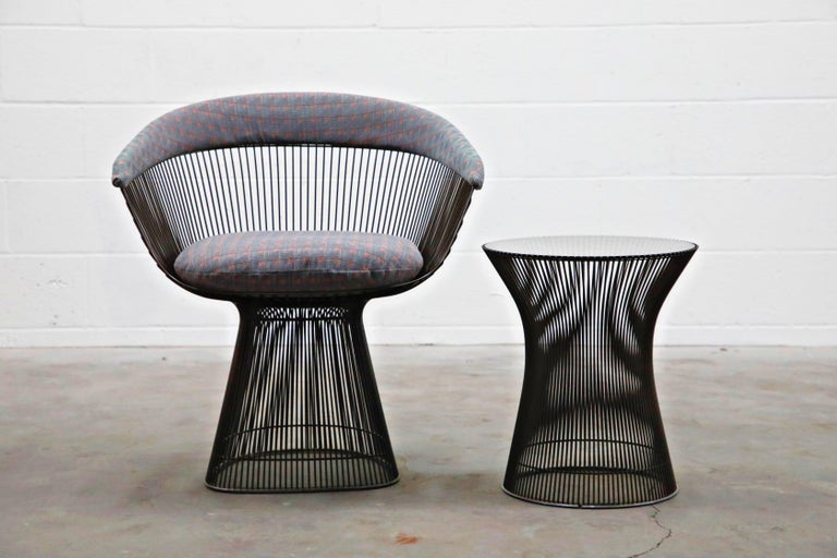 Bronze Early Production Warren Platner for Knoll International Armchairs, Signed For Sale 2