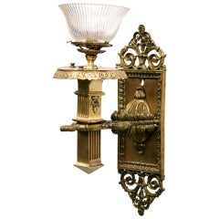 Bronze Edwardian Torchiere Wall Sconce