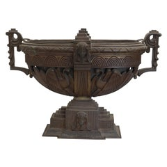 Bronze Egyptian Revival Urn