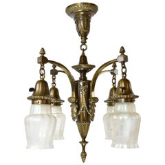 Bronze Empire 4-Shade Chandelier