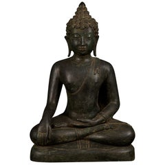 Bronze Enlightenment Buddha Shakyamuni Serene Down Cast Eyes 18th Century