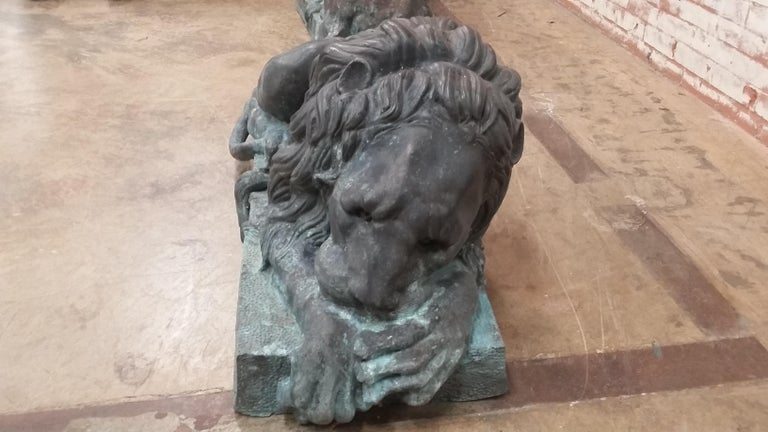Bronze Entraceway Lions For Sale 1