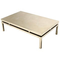 Bronze Etched Coffee Table by Willy Caro, 1970s, Belgium