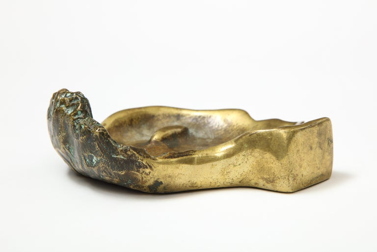 Bronze Face Dish, France, circa 1960s For Sale 2