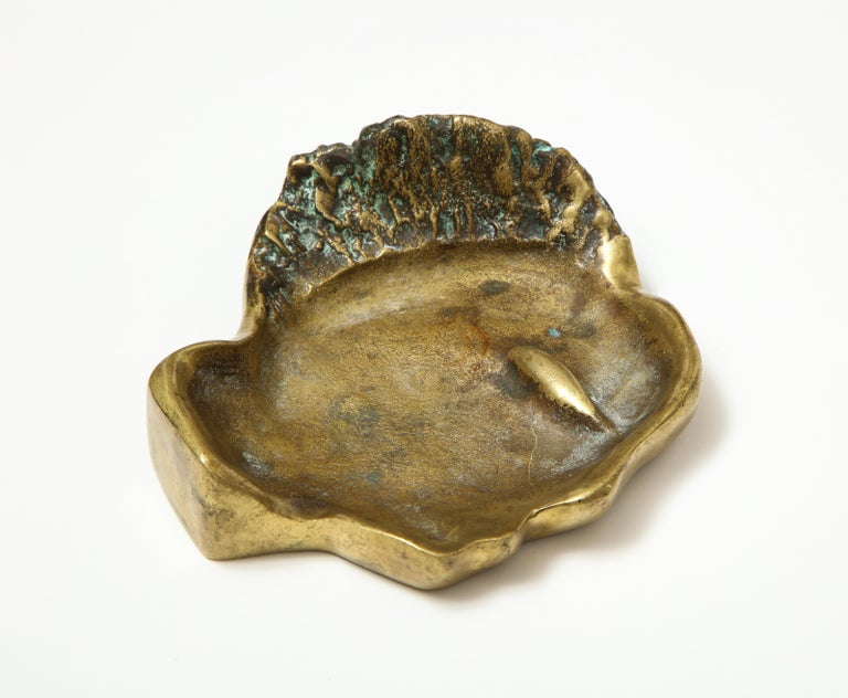 Bronze Face Dish, France, circa 1960s For Sale 3