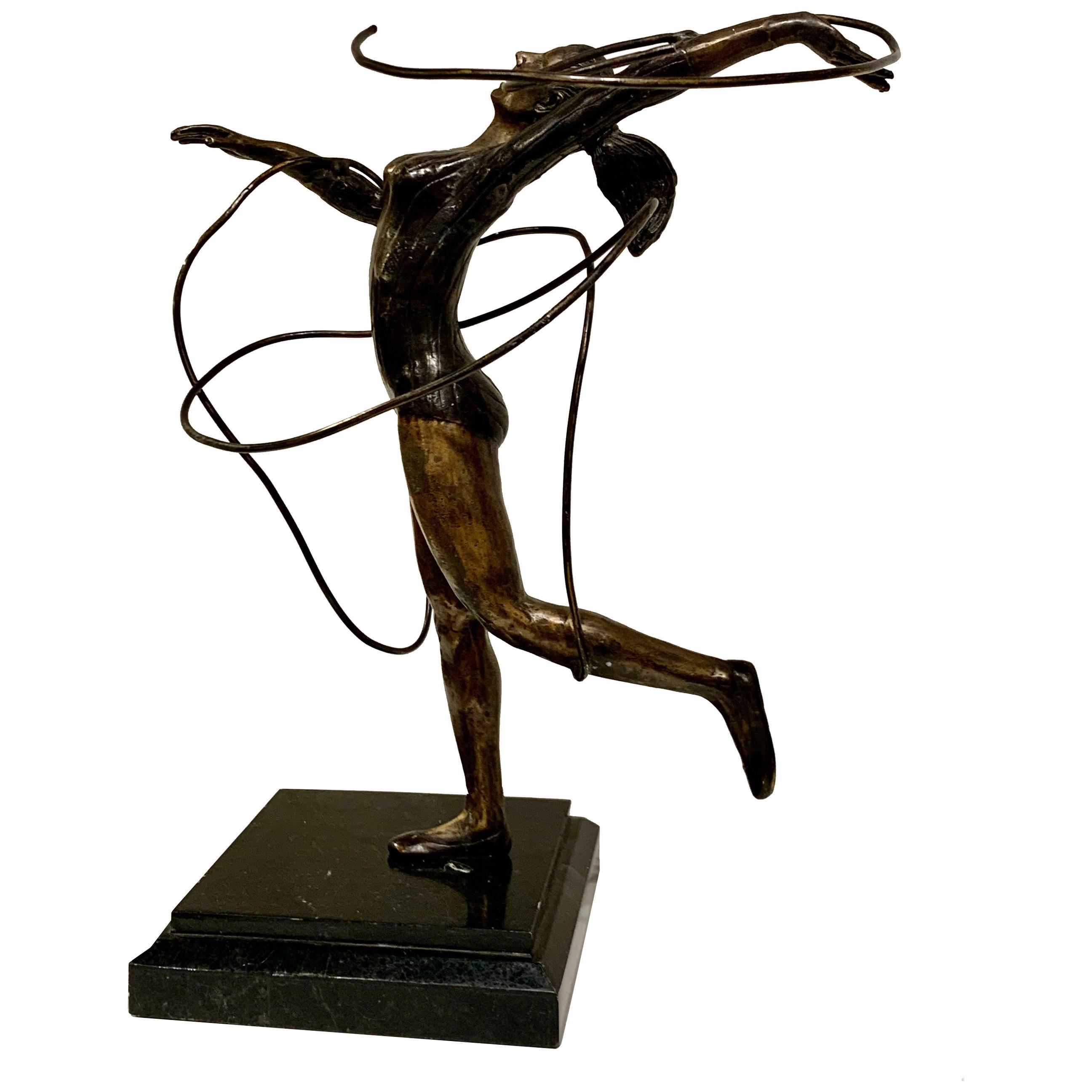 Bronze Female Dancer Sculpture