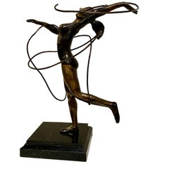 Bronze Female Dancer Sculpture