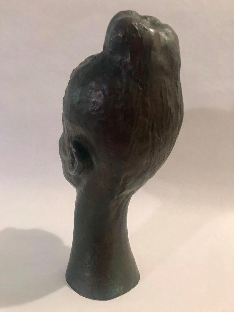 Bronze Female Portrait Head Bust Sculpture For Sale 5