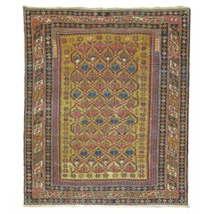 Bronze Field Square Antique Caucasian Shirvan Rug
