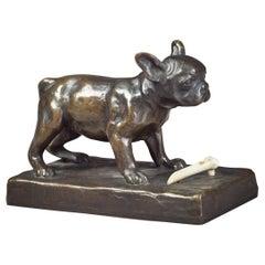 Bronze Figure of a Bulldog, by Friedrich Gornik