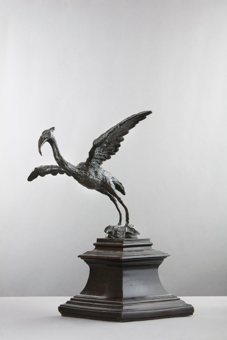 Bronze Figure of a Crane In Excellent Condition For Sale In London, GB