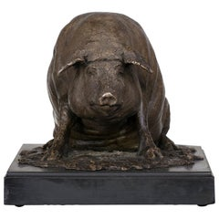 Bronze Figure of a Pig