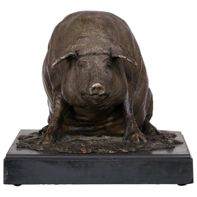 Bronze Figure of a Pig For Sale