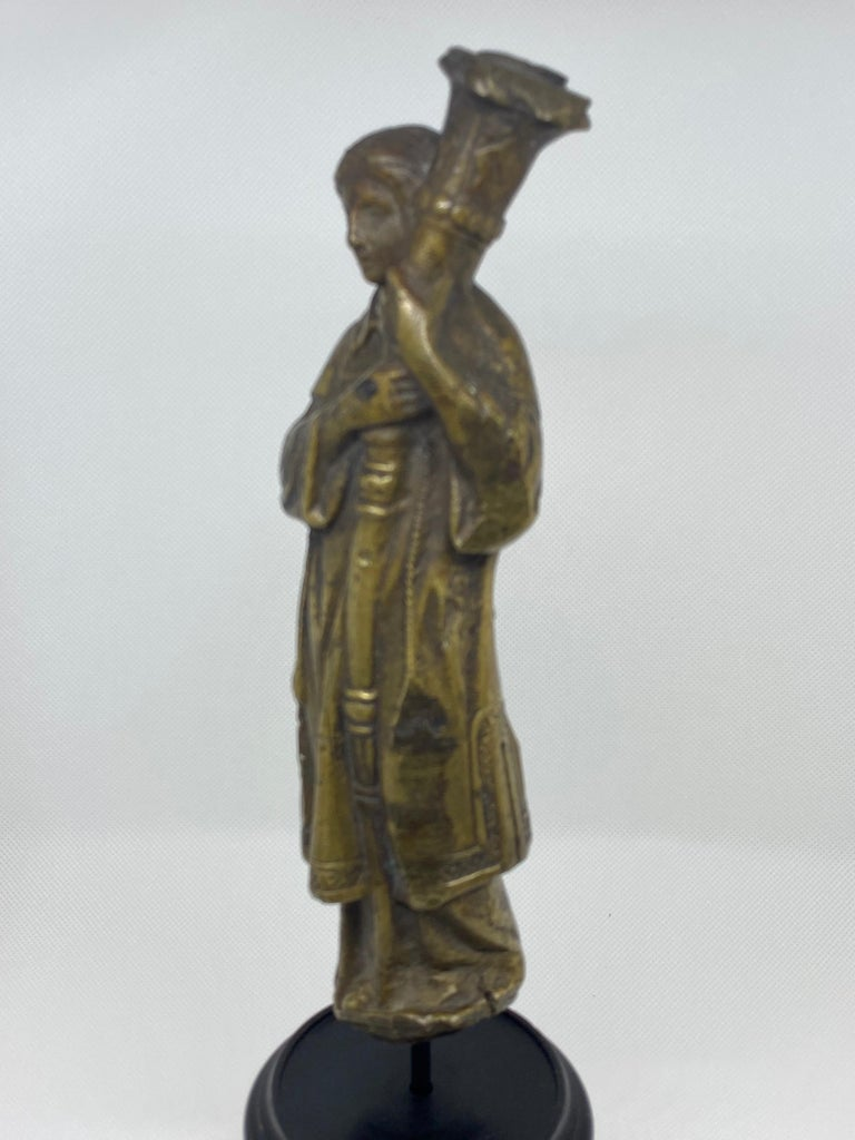 Bronze Figure of a Priest with Crozier, Italian, 18th Century For Sale 1