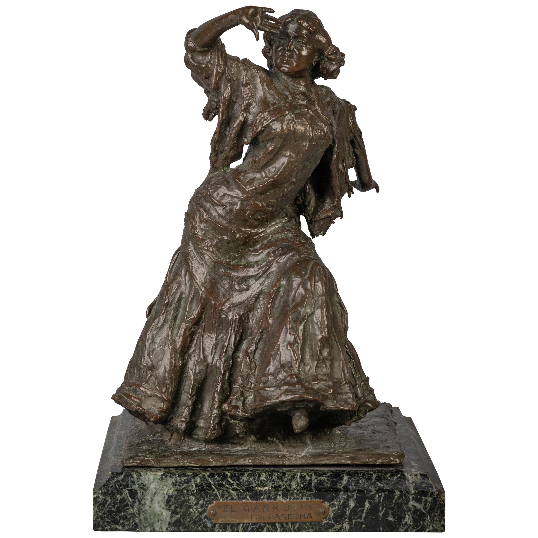 "Bronze Figure of a Spanish Dancer Titled ""El Garrotin"""