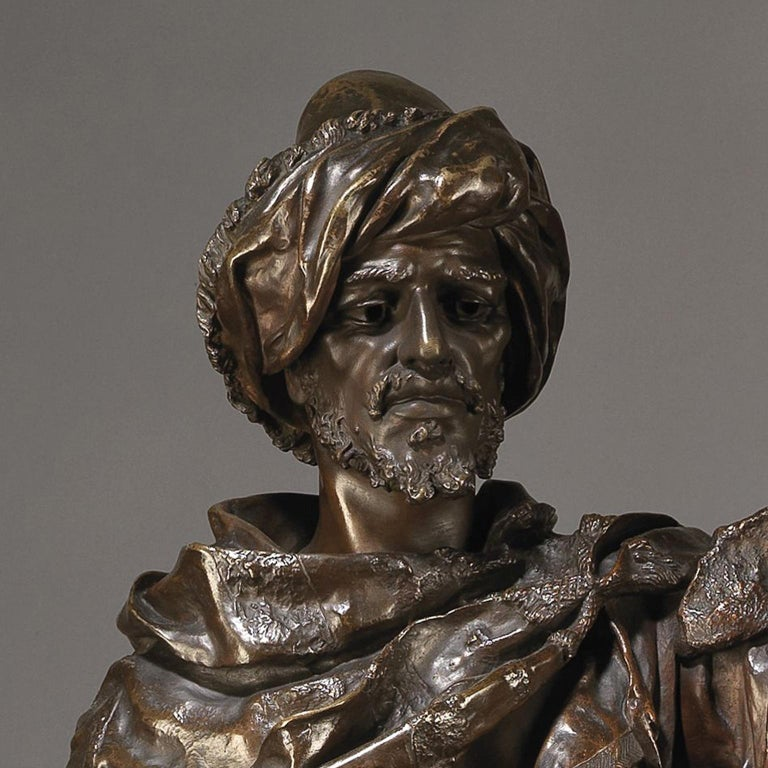 French Bronze Figure of an Arab Warrior by Henri Honoré Plé, circa 1880 For Sale
