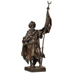Bronze Figure of an Arab Warrior by Henri Honoré Plé, circa 1880