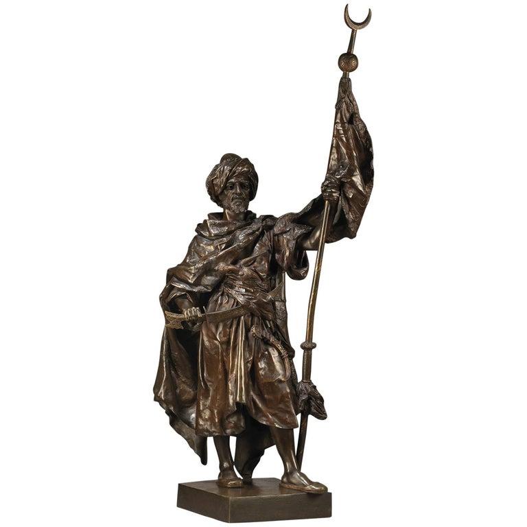 Bronze Figure of an Arab Warrior by Henri Honoré Plé, circa 1880 For Sale