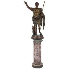 Bronze figure of Augustus after Roman period original