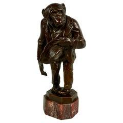 Joseph Franz Pallenberg (German 1882-1946) Signed Bronze of Chimpanzee