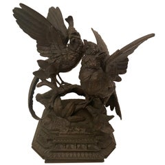 Bronze Figure of Game Birds