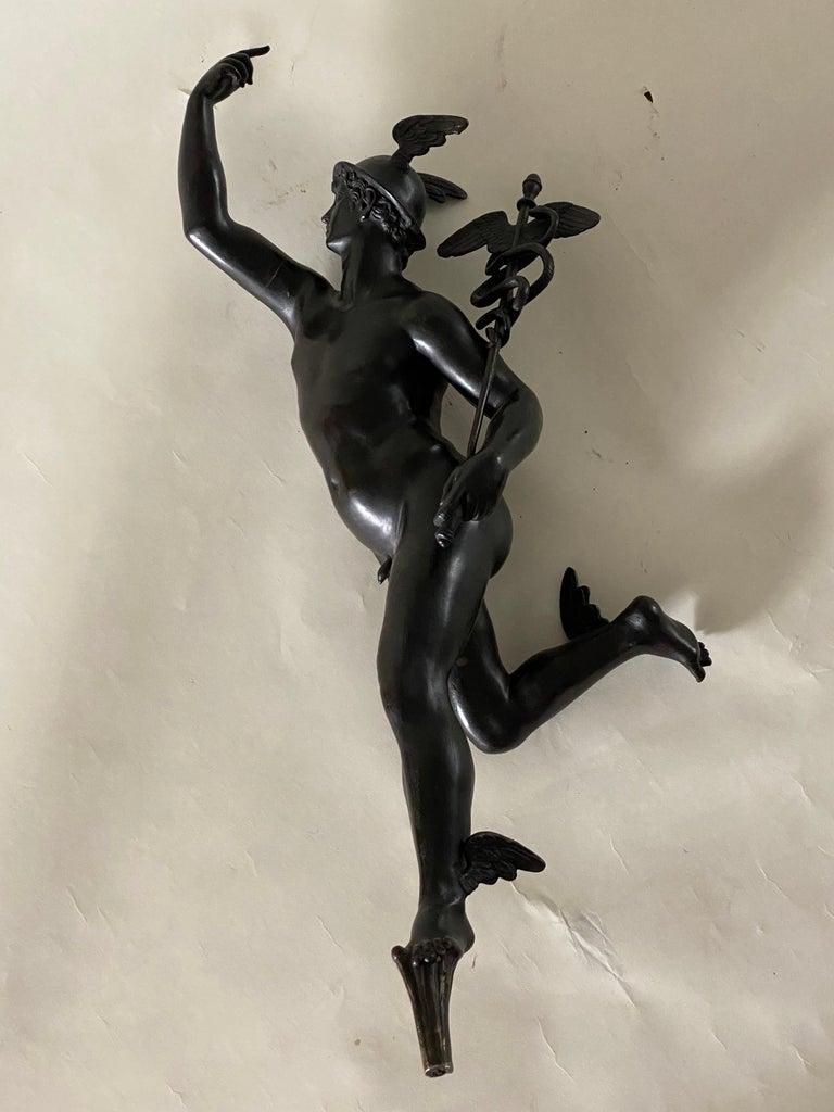 Bronze Figure of Mercury, After Giambologna, Italian, circa 1800 For Sale 5