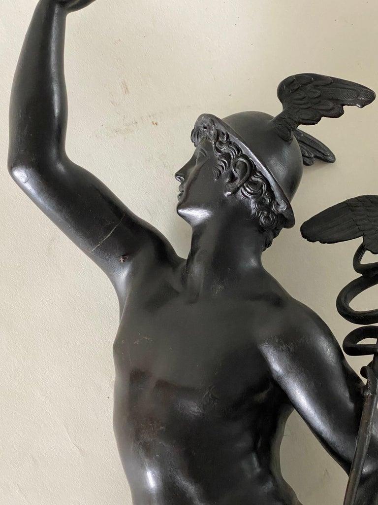 Bronze Figure of Mercury, After Giambologna, Italian, circa 1800 For Sale 6