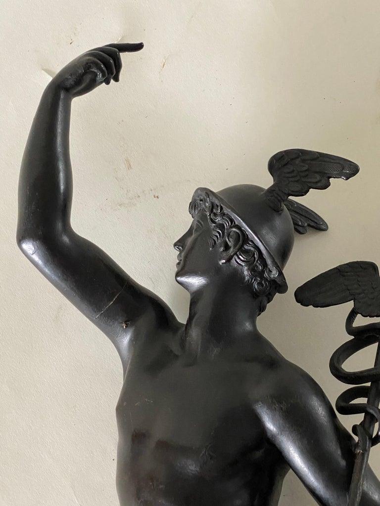 Bronze Figure of Mercury, After Giambologna, Italian, circa 1800 For Sale 7