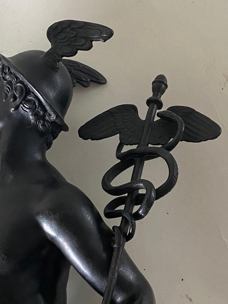 Bronze Figure of Mercury, After Giambologna, Italian, circa 1800 For Sale 8