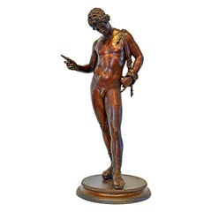 Bronze Figure of Narcissus After the Antique by Chiurazzi Foundry Naples