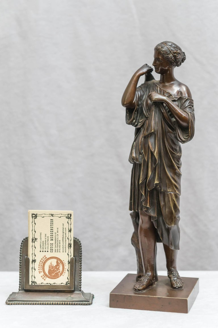 This is an exceptionally fine example of superb casting. These were available to those who toured Europe in the late 19th century and wanted n example of a famous sculpture for their home. This such statues are called