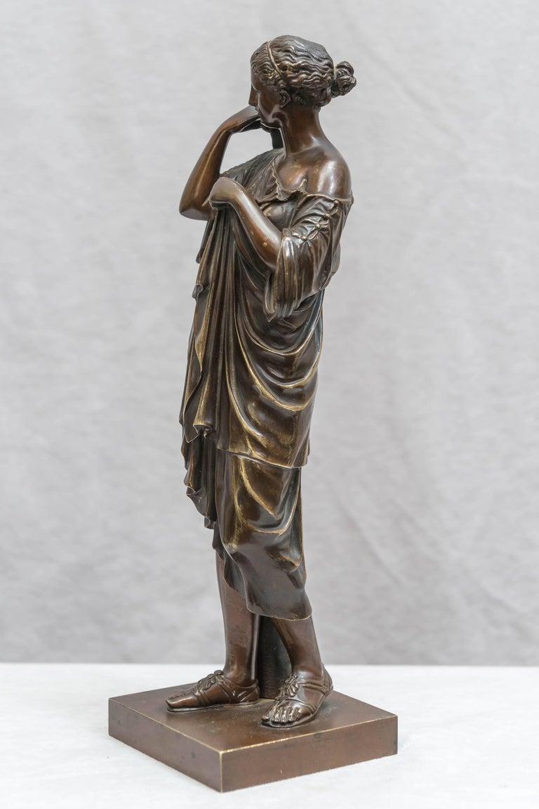 Patinated Bronze Figure of Venus, Souvenir of the Grand Tour For Sale
