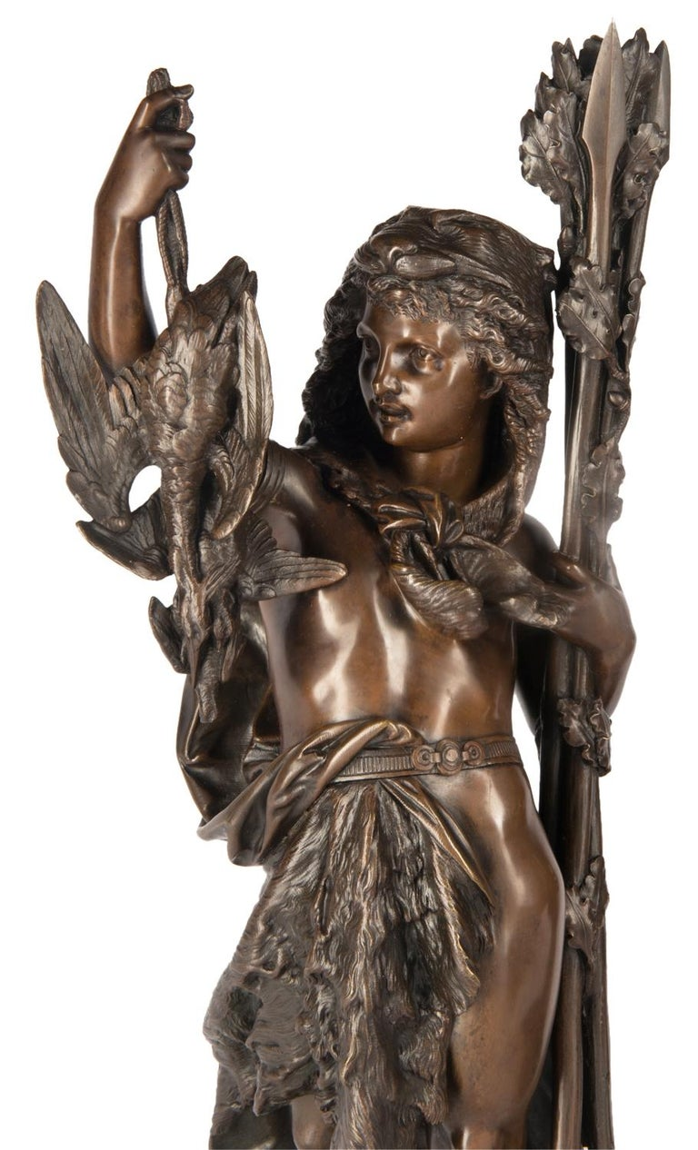 Bronze Figures by 'Carrier' of Hunting and Fishing, 19th Century For Sale 2