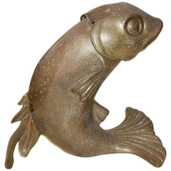 Bronze Fish Form Wine/Champange Cooler