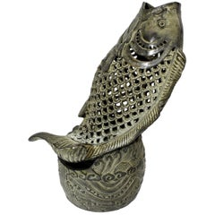 Bronze Fish Incense Burner, Oriental Censer