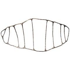 Bronze Fishbone Sculpture by Steven Haulenbeek, Lost Wax Casting