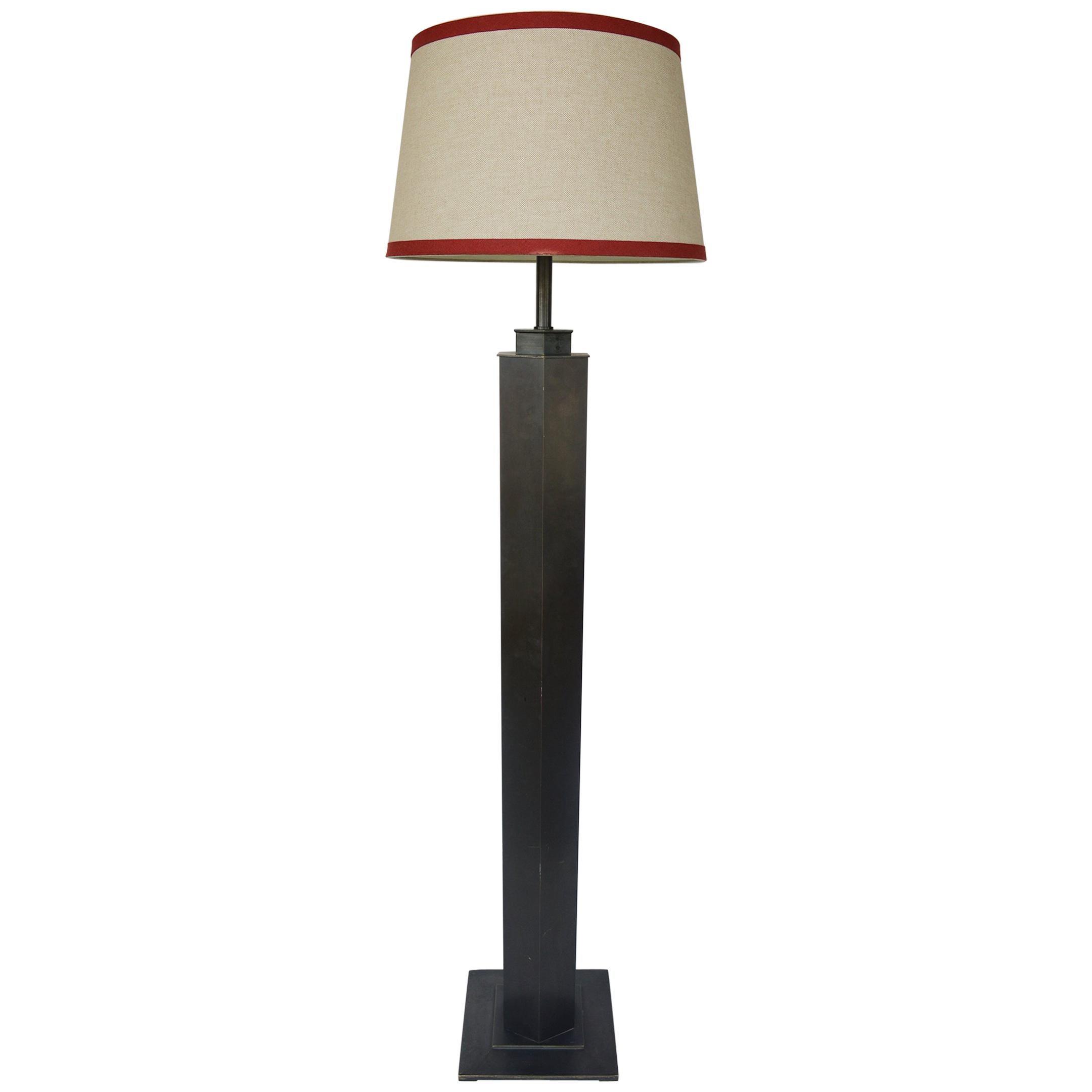Bronze Floor Lamp in the Style of Karl Springer