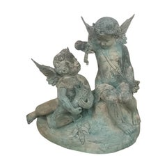 Bronze Fountain with Winged Cherubs
