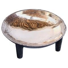 Bronze Four-Legged Bowl, Signed Arno Declercq