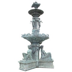 Bronze Freestanding Palace Fountain, 19th-20th Century