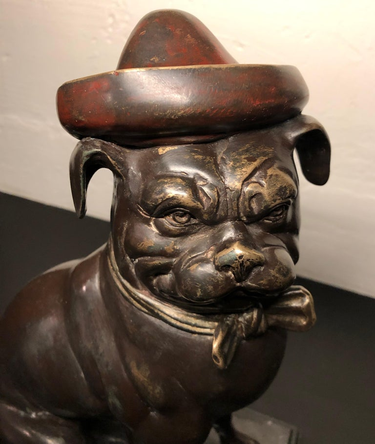 Bronze French Bull Dog Sculpture Art Deco In Good Condition For Sale In Oakland, CA
