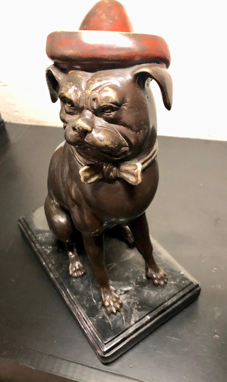 Mid-20th Century Bronze French Bull Dog Sculpture Art Deco For Sale