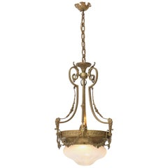 Bronze French Louis XV Style Chandelier, 1930s