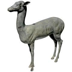 Bronze Garden Deer or Fawn of Pompeii, Late 19th Century