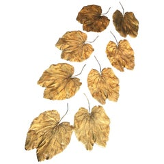Bronze Ginkgo Leaves in the Style of Lalanne