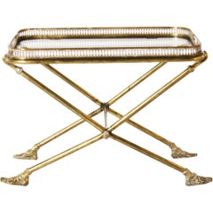 Bronze and Glass Tray Top Table in the Style of Maison Jansen, circa 1940