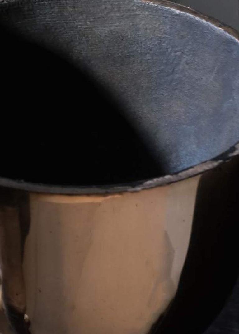 Modern Bronze Goblet Bowl, Signed Arno Declercq For Sale