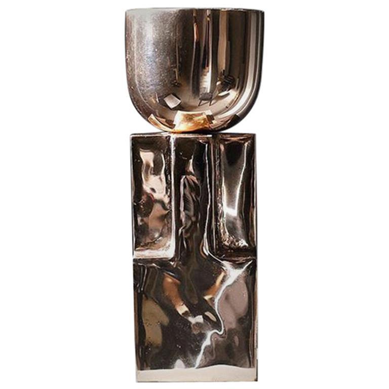 Bronze Goblet Bowl, Signed Arno Declercq For Sale